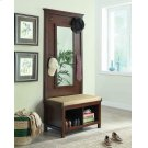 Transitional Raw Umber Hall Tree With Mirror Product Image