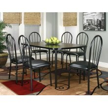 Ebony 36x60 Table 7 PC Set