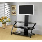 Contemporary Black TV Console Product Image