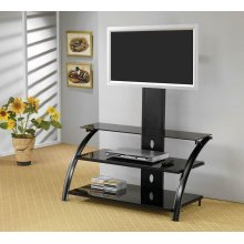 Contemporary Black TV Console