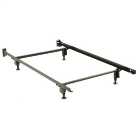 Inst-A-Matic Premium 738G Bed Frame with Headboard Brackets and (4) 2-Piece Glide Legs, Black Finish, Twin