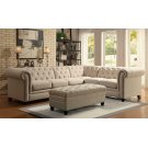 Roy Traditional Oatmeal Armless Chair Product Image