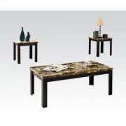 3pc Pk C/e Tables W/bk Faux M Product Image