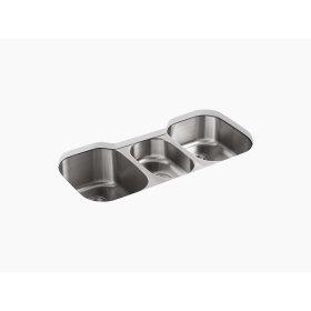 """41-5/8"""" X 20-1/8"""" X 9-1/2"""" Under-mount Triple-bowl Kitchen Sink"""