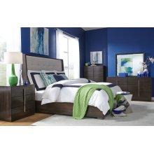 Paldao Upholstered Shelter Bed, CA King 6/0