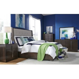 LEGACY CLASSIC FURNITUREPaldao Upholstered Shelter Bed, Queen 5/0