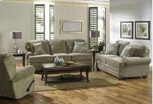 423802 Loveseat in Metal (2754-28) Pillows in Driftwood (2852-19)