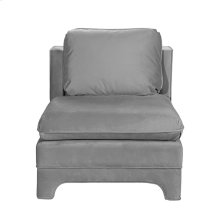 Slipper Chair In Grey Velvet