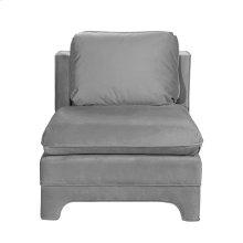 Slipper Chair In Grey Velvet