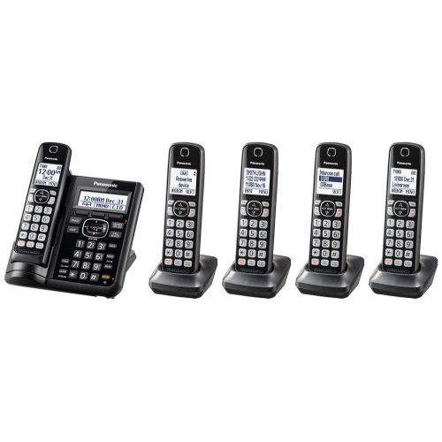 Cordless Phone with Answering Machine - 5 Handsets - KX-TGF545B