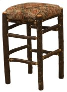 """Hickory Square Backless Counter Stool with Upholstered Seat - 24"""" - Standard Fabric Product Image"""