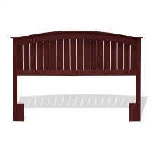Finley Wooden Headboard Panel with Curved Top Rail Design, Merlot Finish, Full / Queen