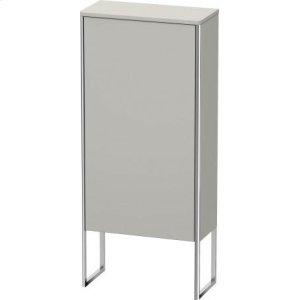 Semi-tall Cabinet Floorstanding, Concrete Gray Matt Decor