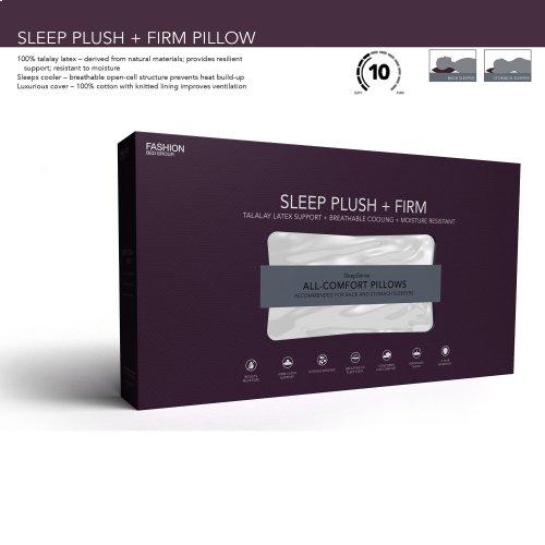 Sleep Plush + Firm Density Latex Foam Pillow, King