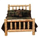 Cedar Cal. King Traditional Log Bed - Complete - Traditional Cedar Product Image