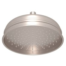 "Satin Nickel 8"" Bordano Rain Anti-Cal Showerhead"