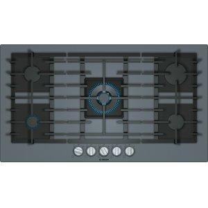 BoschBENCHMARK SERIESBenchmark® Gas Cooktop 36'' dark silver NGMP677UC