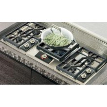 """CT30GP 15"""" Gas Cooktop - Platinum Stainless"""