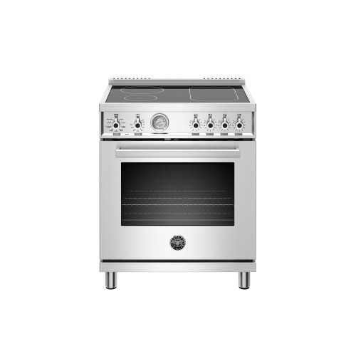 30 inch Induction Range, 4 Heating Zones, Electric Oven Stainless Steel