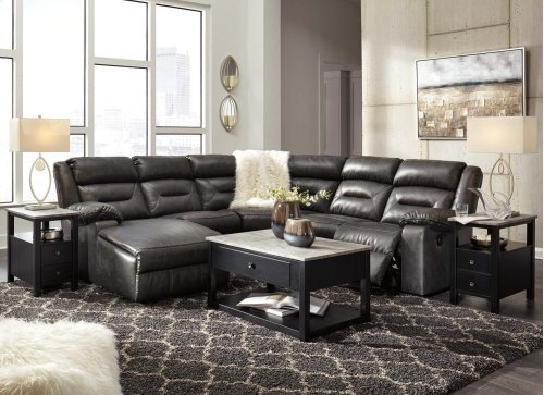 Coahoma - Dark Gray 4 Piece Sectional