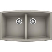 Blanco Performa Equal Double Bowl - Concrete Gray