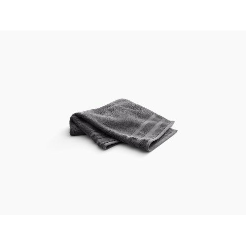 """Thunder Grey Hand Towel With Terry Weave, 18"""" X 30"""""""