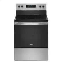 5.3 cu. ft. Whirlpool® electric range with Frozen Bake technology.
