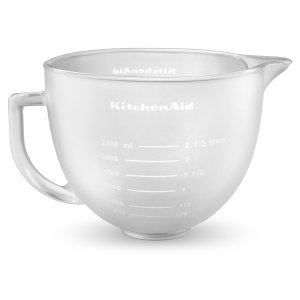 Kitchenaid5-Qt. Tilt-Head Frosted Glass Bowl with Measurement Markings & Lid Other