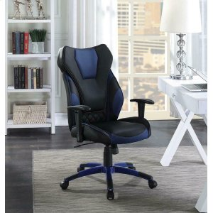 CoasterContemporary Black/blue High-back Office Chair