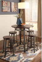 Challiman - Rustic Brown 2 Piece Dining Room Set Product Image