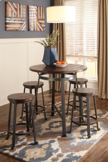 Challiman - Rustic Brown 2 Piece Dining Room Set