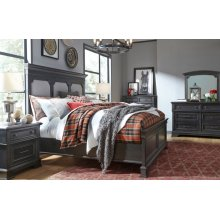 Townsend Upholstered Panel Bed, Queen 5/0