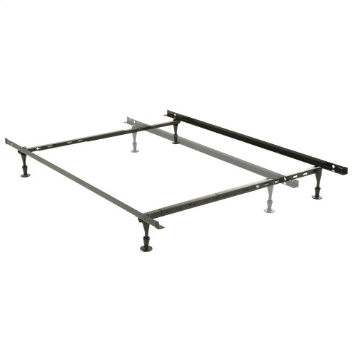 Harvard Adjustable NH50G Heavy Duty Bed Frame with Keyhole Cross Arms and (4) 2-Piece Glide Legs, Twin / Queen