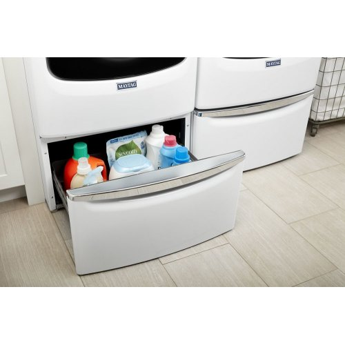 """15.5"""" Pedestal for Front Load Washer and Dryer with Storage"""