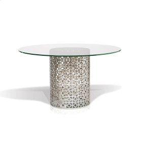 Carole Round Clear Glass Top Dining Table