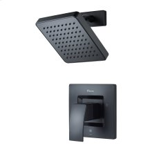 Matte Black 1-Handle Shower Only Trim