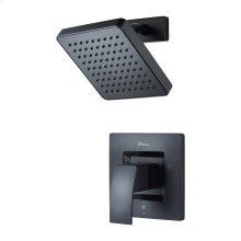 Matte Black 1-Handle Shower Only Trim