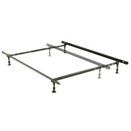 Harvard Adjustable NH50G Heavy Duty Bed Frame with Keyhole Cross Arms and (4) 2-Piece Glide Legs, Twin - Queen