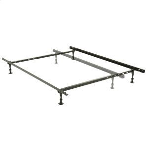 Leggett And PlattHarvard Adjustable NH50G Heavy Duty Bed Frame with Keyhole Cross Arms and (4) 2-Piece Glide Legs, Twin - Queen