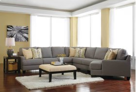 Chamberly 5 Pc LAF Sectional w/RAF Cuddler