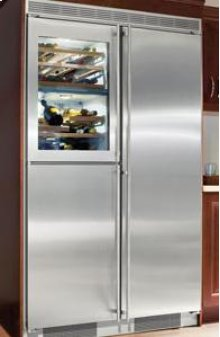 "48"" Built-in Side-By-Side 5 Temp. Zone Premium, NoFrost ~ stainless steel finish"