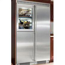 """48"""" Built-in Side-By-Side 5 Temp. Zone Premium, NoFrost ~ stainless steel finish"""