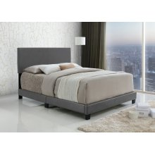 Jessica Gray Upholstered Queen Bed