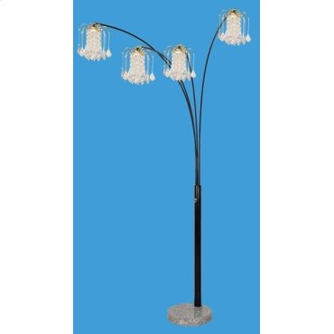 BLACK FLOOR LAMP W/MARBLE BASE