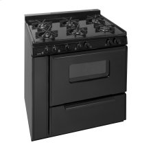 36 in. Freestanding Battery Spark Sealed Burner Gas Range in White