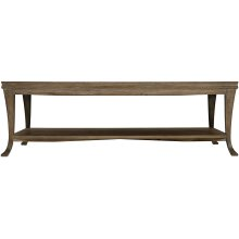 Rustic Patina Rectangular Cocktail Table in Peppercorn (387)