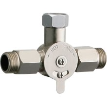 Concealed mechanical mixing valve for single faucet installations