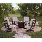 Castle Island - Dark Brown 5 Piece Patio Set Product Image
