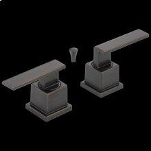 Venetian Bronze Metal Lever Handle Set - 2H Bathroom
