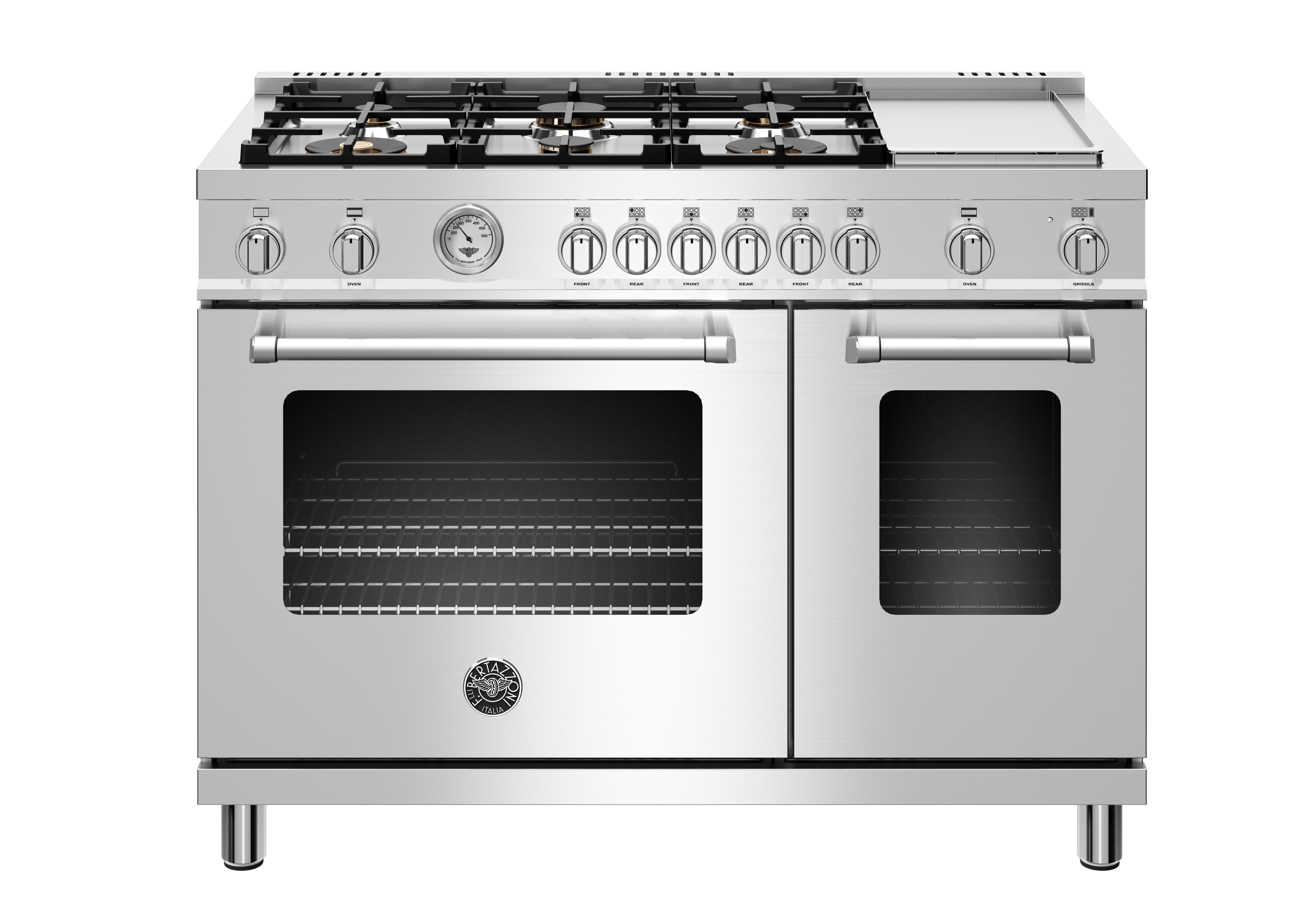 """48"""" Master Series range - Gas Oven - 6 brass burners + griddle  STAINLESS STEEL"""